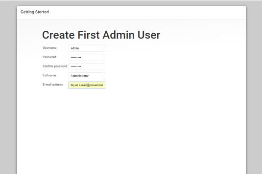 Jenkins First Admin User